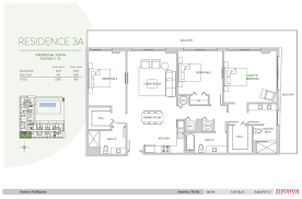 aventura parksquare 3a floorplan 3 bedroom 3 bathroom