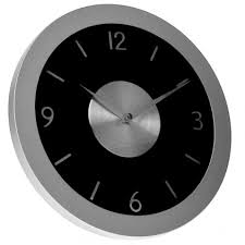 horloge de cuisine murale alu design 30 cm