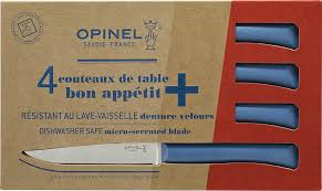 Opinel Kitchen Knives Review Opinel Bon Appétit Set Of 4 Polymer Handle Steak Knives