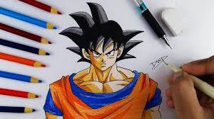 draw goku dragon ball dbz character drawing