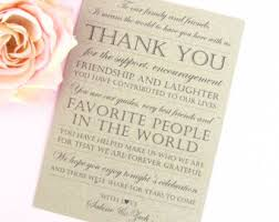 wedding thank you card with and grooms name