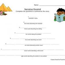 story pyramid template comprehension story pyramid worksheets