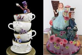 alice in wonderland cakes cake geek magazine