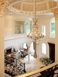 Glamorous Chandeliers Elegant Black And White Entryway Dahlia Mahmood Hgtv