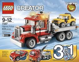 lego mini cooper instructions amazon com lego creator 7347 highway pickup toys u0026 games