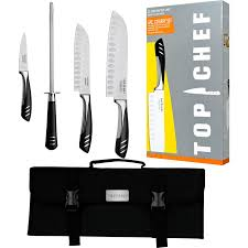 Used Kitchen Knives Amazon Com Top Chef 5 Piece Stainless Steel Knife Set Portable