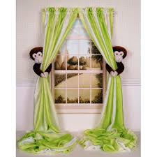 funky nursery monkey curtains for baby room u2014 jen u0026 joes design