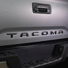 matte black 2016 2018 tacoma tailgate matte black logo insert nox lux
