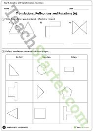 all worksheets translation rotation and reflection worksheet