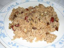 seeraga samba rice in usa meal spicy brinjal and bean rice daily musings