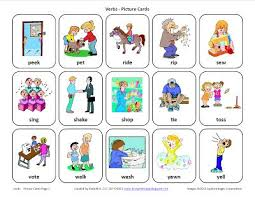 picture cards testy yet trying verbs free speech therapy picture cards