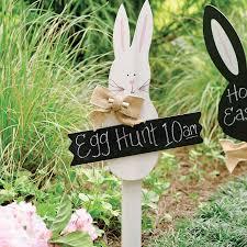 rabbit banner easter bunny banner chalkboard yard sign bug