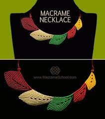 leather leaf necklace images Macrame leaf necklace tutorial jewelry wonderhowto jpg