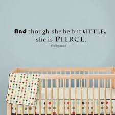 shakespeare characters promotion shop for promotional shakespeare shakespeare wall quote and though she be but little she is fierce girls nursery vinyl lettering wall decal 34