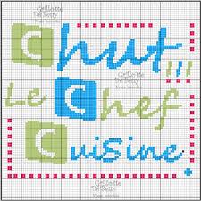 broderie cuisine cuisine kitchen chef point de croix cross stitch broderie