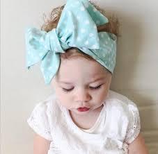diy baby headbands new 2016 diy baby kid girl turban knot headband big bow adjustable