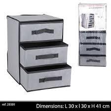 coffre de rangement chambre meuble etagere support 3 tiroirs tissu rangement chambre enfant