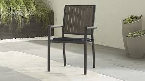 Stackable Outdoor Dining Chairs Amazing Of Crate And Barrel Outdoor Seat Cushions Alfresco Grey