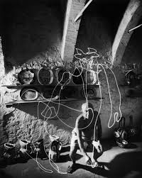 pablo picasso draws with light the story behind an iconic photo