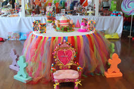 Candy Party Table Decorations Candy Land Sweet Shoppe Birthday Party Ideas Tutu Table Candy