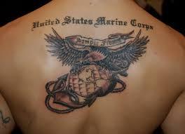 usmc eagle globe and anchor on back by hotwheeler tattoomagz
