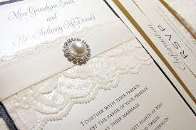 Elegant Wedding Invitations Elegant Wedding Invitations With Lace Pearls