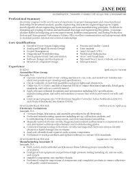 Electronic Engineering Resume Sample by Electronics And Communication Engineering Resume Resume For Your