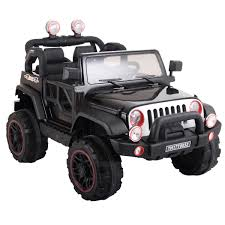 kids electric jeep 12v jeep style kids ride on battery powered electric car w remote