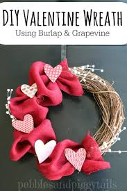 diy valentine wreath with burlap and grapevine making life blissful