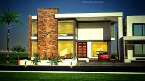 Home Design For Plot by 3d Front Elevation Com 1 Kanal Modern Simple Elegant House