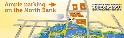 Spokane Washington Map Riverfront Park Parking City Of Spokane Washington