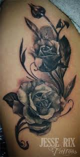 jesse rix tattoos tattoos feminine black and grey rose tattoo