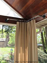 Curtain Rod Ideas Decor Best 25 Outdoor Curtain Rods Ideas Only On Pinterest