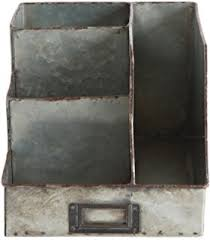 Metal Desk Organizer Industrial Stainless Steel Desk Organizer 3 Bin