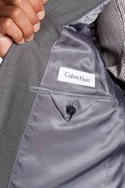 calvin klein mabry pinstripe two button notch lapel suit in gray