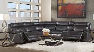 Black Leather Reclining Sofa And Loveseat Sectional Sofa Sets Large Small Sectional Couches