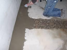 sumptuous waterproof basement cement floor fixing a wet
