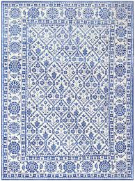 White Modern Rug by Charming Blue And White Vintage Indian Agra Cotton Rug 48300 Main