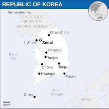 pusan on map south korea physical map south korea political map with cities