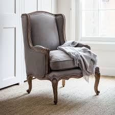 louis french armchair dove grey within home homebound