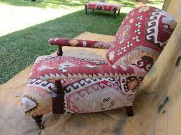 Kilim Armchair George Smith