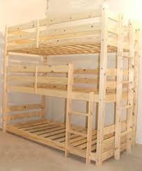 Pandora  Tier Triple Sleeper Pine Bunk Bed New House - Triple lindy bunk beds