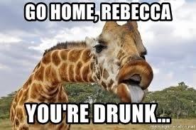 Drunk Giraffe Meme - go home rebecca you re drunk go home giraffe your drunk meme