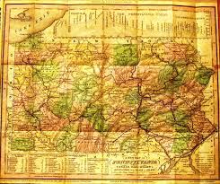 Road Map Of Pennsylvania by Pennsylvania In Early Pocket Maps
