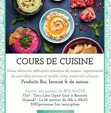 cours de cuisine biarritz atelier de cuisine végétale côte basque tendances