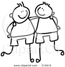 sketch clipart friendship pencil and in color sketch clipart