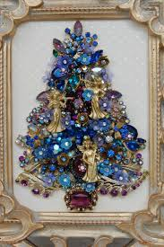 vintage jewelry christmas tree jewelled trees pinterest