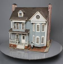 2 Story Houses Buy Custom Built G Scale Blue And White 2 Story House Trainz