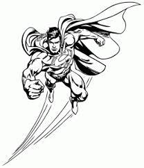 superman coloring kids