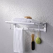 kes aluminum bathroom shelves towel rack basket with towel bar